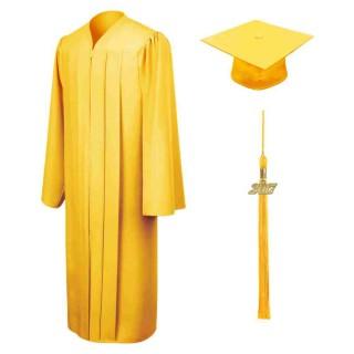 Matte Gold Middle School Cap, Gown & Tassel