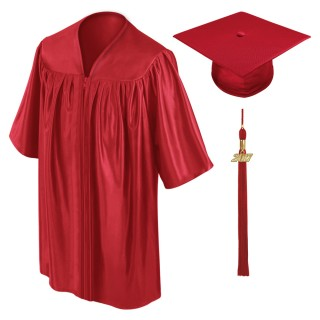 Red Preschool Cap, Gown & Tassel