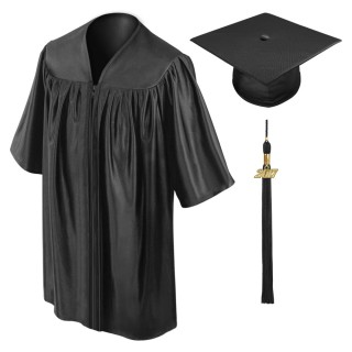 Black Preschool Cap, Gown & Tassel