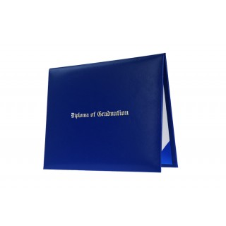 Royal Blue Imprinted Middle School Diploma Cover