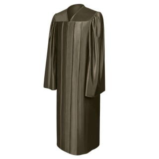 Shiny Brown High School Gown