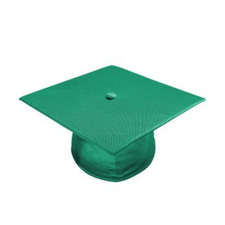 Shiny Emerald Green High School Cap