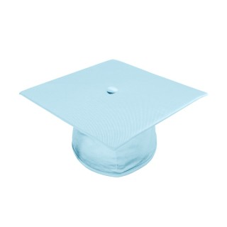 Shiny Light Blue High School Cap