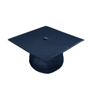 Shiny Navy Blue Middle School Cap