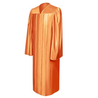 Shiny Orange Bachelor Academic Gown