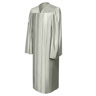Shiny Silver High School Gown