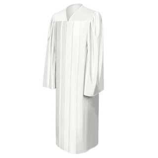 Shiny White Bachelor Academic Gown