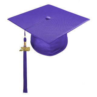 Purple Kindergarten Cap & Tassel
