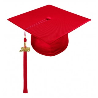Red Kindergarten Cap & Tassel