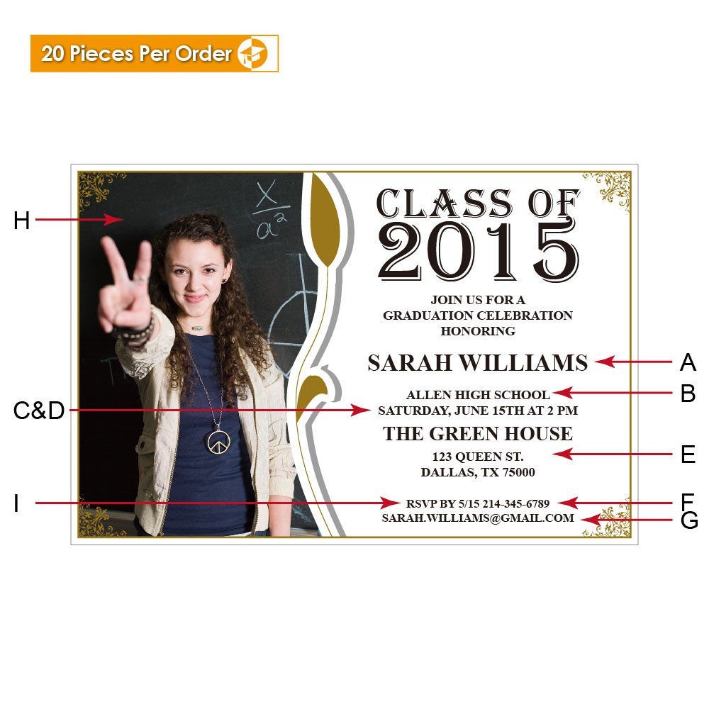 Picture Leaf High School Graduation Announcement Gradshop