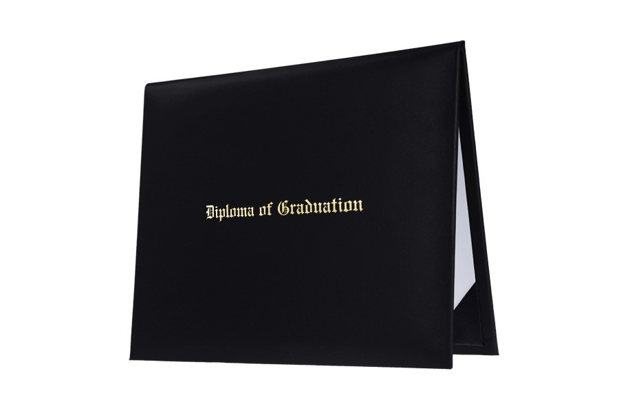 black imprinted middle school diploma cover gradshop black imprinted middle school diploma cover