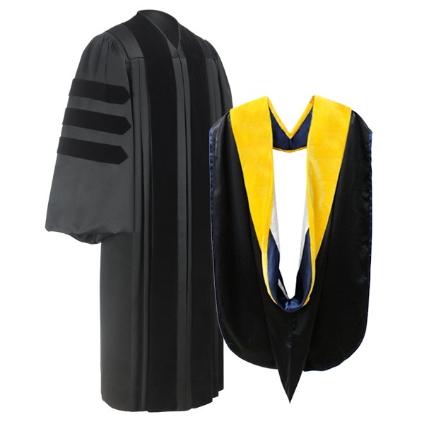 Deluxe Doctoral Academic Gown & Hood Package | Gradshop