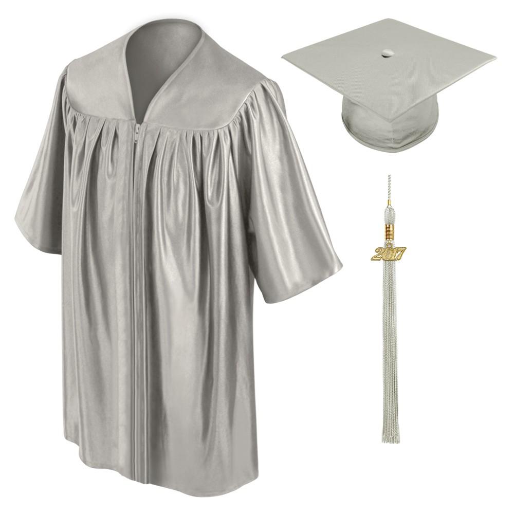 Silver Kindergarten Cap, Gown & Tassel | Gradshop