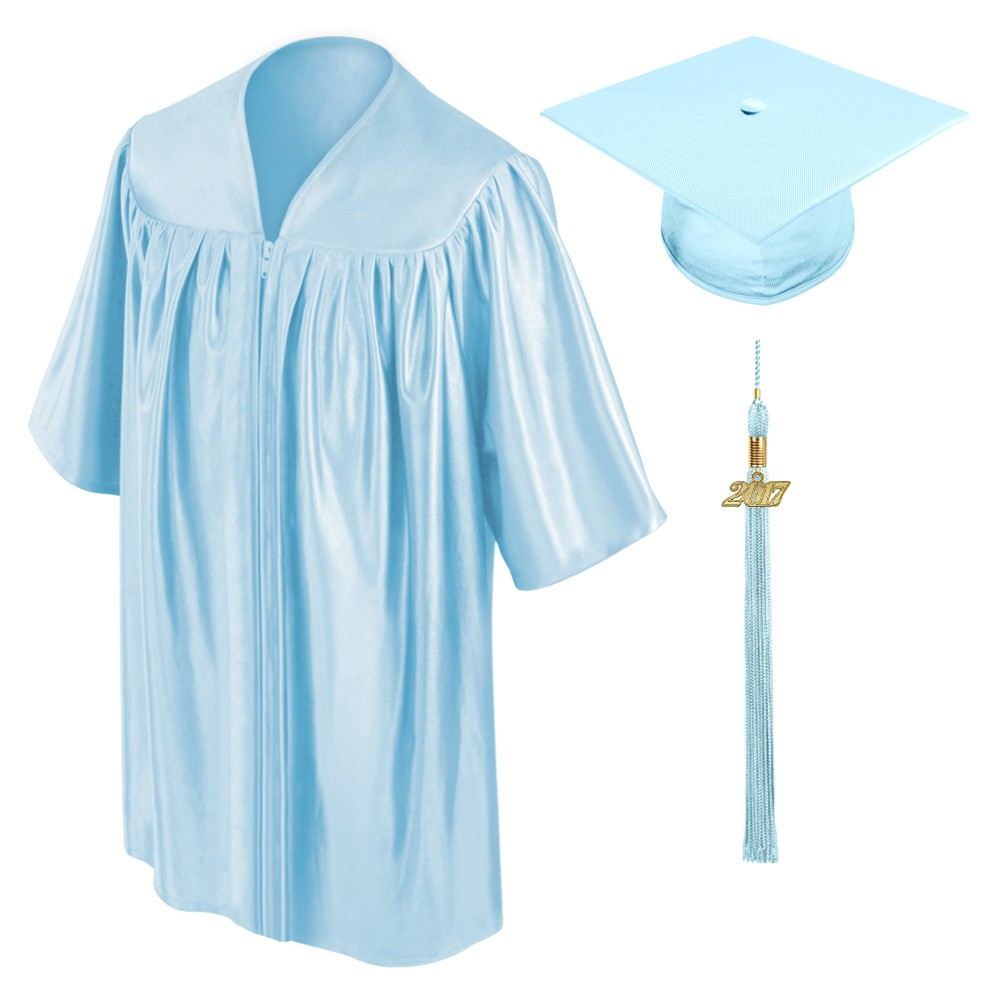 Light Blue Kindergarten Cap, Gown & Tassel | Gradshop