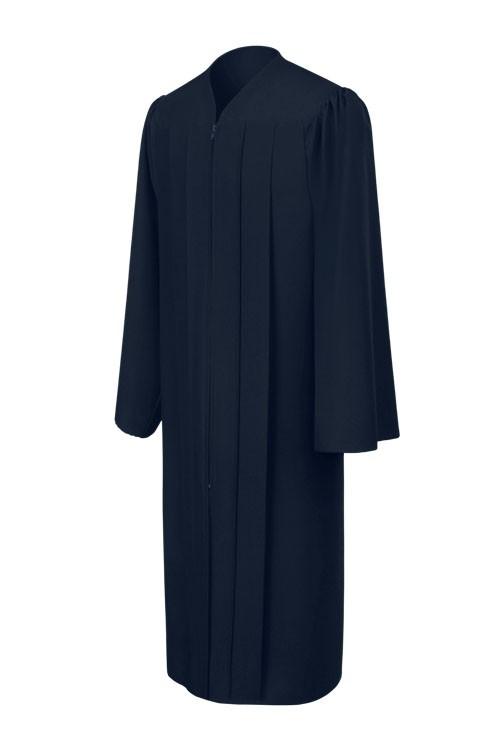 ed1e7688f3c Matte Navy Blue High School Gown