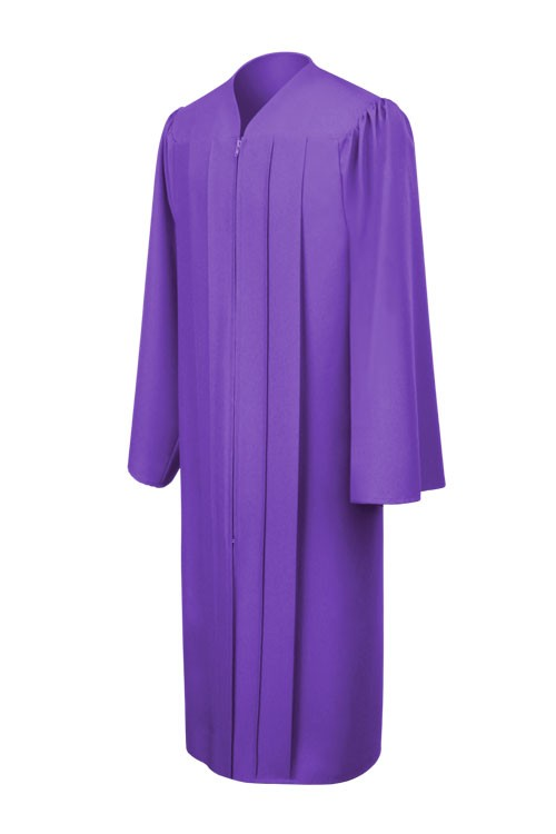 c509aca8e95 Matte Purple Elementary Gown