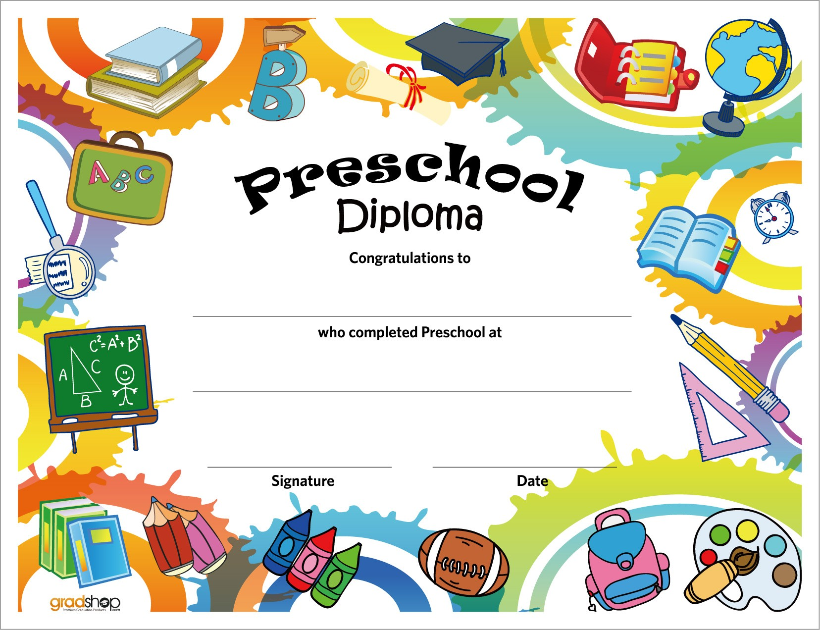 preschool diploma double click on above image to view full picture
