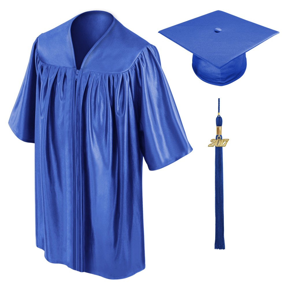Royal Blue Kindergarten Cap Gown Tassel Gradshop