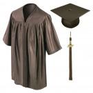 Brown Kindergarten Cap, Gown & Tassel