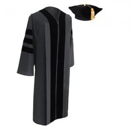 Classic Doctoral Graduation Tam & Gown - Academic Regalia