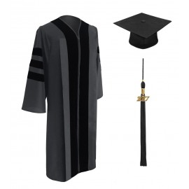Classic Doctoral Graduation Cap & Gown - Academic Regalia