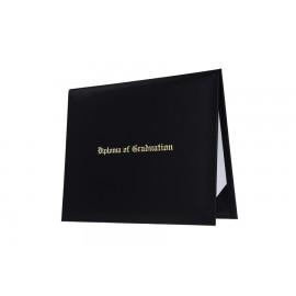 Black Imprinted Preschool Diploma Cover