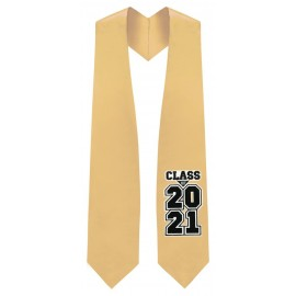 Class of 2021 Antique Gold Graduation Stole