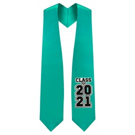 Class of 2021 Emerald Green Graduation Stole