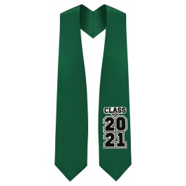 Class of 2021 Hunter Green Graduation Stole