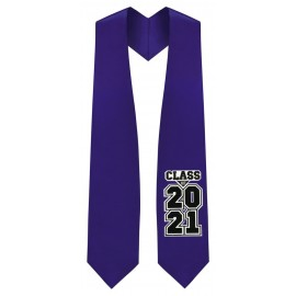 Class of 2021 Purple Graduation Stole