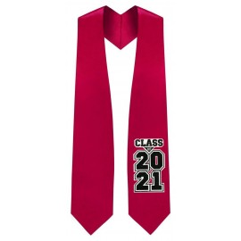 Class of 2021 Red Graduation Stole