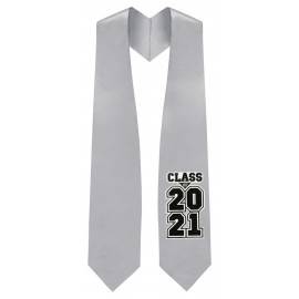 Class of 2021 Silver Graduation Stole