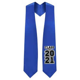 Class of 2021 Royal Blue Graduation Stole
