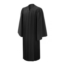 Deluxe Black High School Gown