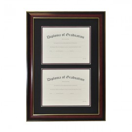 High School Double Document Diploma Frame