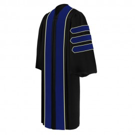 PhD Blue Graduation Doctoral Gown