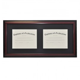 University Horizontal Double Document Diploma Frame