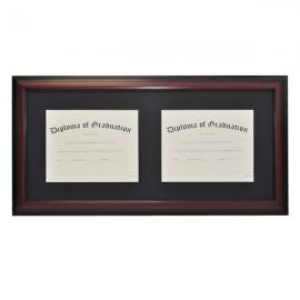 Horizontal Double Document Diploma Frame