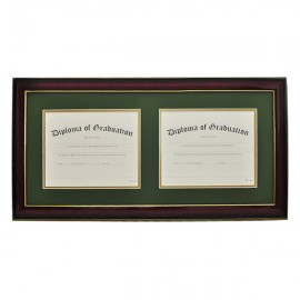 High School Horizontal Double Document Diploma Frame
