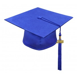 Matte Royal Blue High School Cap & Tassel