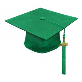 Matte Green High School Cap & Tassel