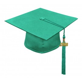 Matte Emerald Green High School Cap & Tassel