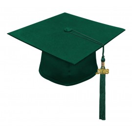 Matte Hunter High School Cap & Tassel