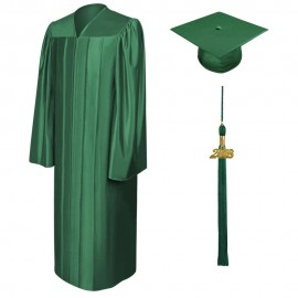 Shiny Hunter Bachelor Academic Cap, Gown & Tassel