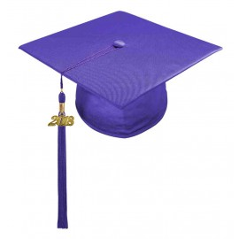 Shiny Purple High School Cap & Tassel