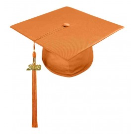 Shiny Orange Elementary Cap & Tassel