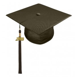 Shiny Brown High School Cap & Tassel