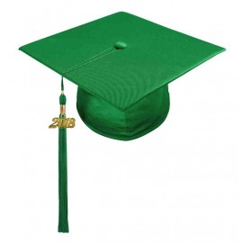 Shiny Green Middle School Cap & Tassel