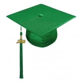 Shiny Green Middle School Cap & Tassel