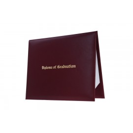 Maroon Imprinted Middle School Diploma Cover